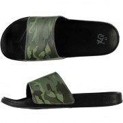Merkloos Zwembad slippers met leger print voor heren 41 - Badslippers
