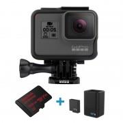 Pachet GoPro HERO5 Black card 128Gb si Incarcator Dublu cu Acumulator GoPro