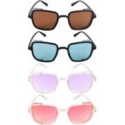 NuVew Wayfarer, Shield Sunglasses(Brown, Green, Violet, Red, Golden)