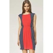 Sukienka s47 (koralowy-wzór)