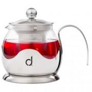 Ceainic din sticla si inox cu infuzor Andrew James AJ000514, Volum 750 ml