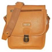 Kan Tan Genuine Leather Messenger Bag/Sling Bag/Backpack for Men & Women 7 L Backpack(Tan)