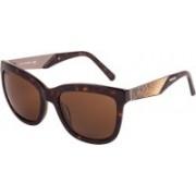 SWAROVSKI Rectangular Sunglasses(Brown)