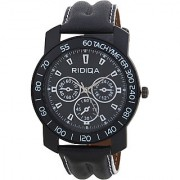 RIDIQA Analog Black Strap Black Dial Stylish Watch for Men's combo RD-111