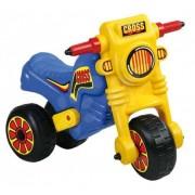 Tricicleta copii fara pedale Moto Cross Big - Albastru
