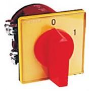 Tűzvédelmi főkapcsoló KI-BE sárga előlappal 3x40A beépíthető (6002)