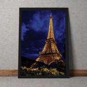 Quadro Decorativo Torre Eiffel Colorida 35x25