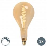 Calex Zestaw 3 x żarówka LED E27 MEGA splash 4W 200lm 2100K ściemnialna