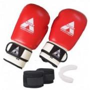 Manusi box profesionale Anastasia Sport piele naturala 10 OZ proteza si bandaje incluse