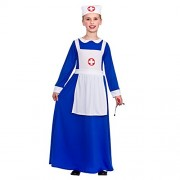 Wicked Costumes Girls Wartime Nurse Fancy Dress up Party Costume Halloween Child Outfit Age 5-7