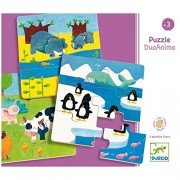 Djeco / DuoAnimo Set of 3 Beginner Wooden Puzzles