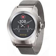 MyKronoz Hybridní hodinky ZeTime Elite Brushed Silver Milan - 39 mm