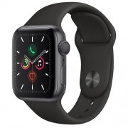 Apple Watch Series 5 GPS 40mm Space Grey Aluminium Case Black Sport Band