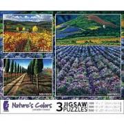 Jennifer Vranes Natures Colors 3-Pack 100 300 500 Pc Jigsaw Puzzle Set