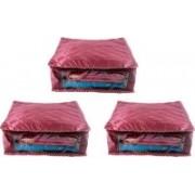 Ajabh High Qulity NEW COMBO OF 3PCS HIGHT SAREE COVER GIFT ORGANIZER TRAVLING BAG KEEP SAREE\SALWAR\JEANS\TOP ETC.(Maroon)