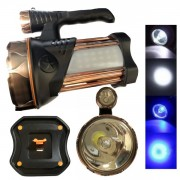 Lanterna LED 5500LUX Lumina Alb Albastra cu USB TDT18