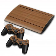 Sony hout structuur Stickers voor PS3 Game Console