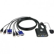 ATEN 2-Port USB VGA Cable KVM Switch with Remote Port Selector