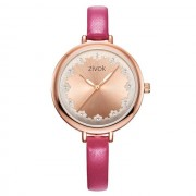 ZIVOK Minimalist Flower Leather Watches