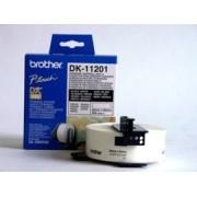 Etichete de hartie standard Brother DK11201 pentru adrese 29 mm x 90 mm, negru/alb, 400 buc