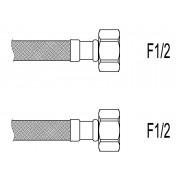 "Racord flexibil apa i-i, F1/2""xF1/2"", 100 cm Techman PWS9"