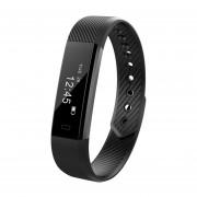 YL015 Smartband Monitor De Ritmo Cardíaco Fitness Tracker Podómetro Impermeable Reloj Negro