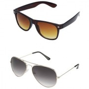 Magjons Aviator Sunglasses Combo Set of 2 With box MJ7776