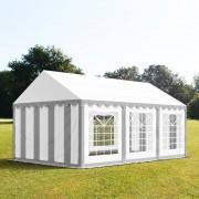 tendapro.it Tendone 3x6m PVC bianco-grigio Gazebo per Feste e Giardino
