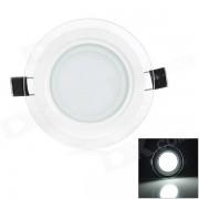 LSON 6W 500LM 6000K Luz Blanca 12-5730 SMD LED Lampara de Panel Doble Lente - Blanco (AC 85 ~ 265V)
