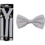Swarn Y- Back Suspenders for Men, Women(White)