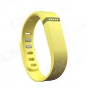Reemplazo Large Deportes TPE + TPU banda para la muneca w / Broche de Fitbit Flex inteligente Pulsera - Amarillo