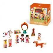 Set de joaca din lemn Mini povesti - Circul
