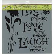 Crafters Workshop Plantilla, 12 por 12 Pulgadas, Live, Love and Laugh
