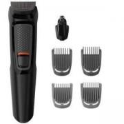Тример за лице Philips Multigroom series 3000, 6 в 1, Самонаточващи се ножчета от стомана, MG3710/15