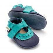 Sandale cu talpa moale Liliputi Sahara Blue