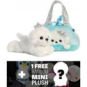 Peek-A-Boo Princess Puppy: Fancy Pals Mini-Plush Purse Pet Carriers + 1 Free Aurora Mini-Plush Charm Bundle [32790]