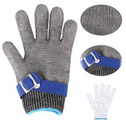 Stainless Steel Mesh Cut Proof Resistant Glove Chain Mail Protective Glove - M