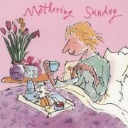 moederdagkaart quentin blake - mothering sunday - ontbijt op bed
