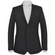 vidaXL Pánske formálne sako, veľkosť 56, čierne