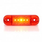 Lampa gabarit ovala Slim cu 5 LED -rosie W97.2