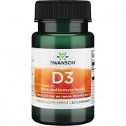 Swanson Vitamín D3 1000 iu Cholekalciferol 30 kapslí - 30 kapslí