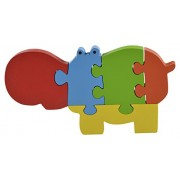 Skillofun Wooden Take Apart Puzzle Large - Hippopotamus, Multi Color