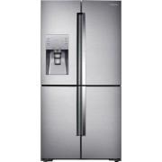 Samsung - 22.1 Cu. Ft. 4-Door Flex French Door Counter-Depth Fingerprint Resistant Refrigerator with Food ShowCase - Stainless steel