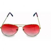 Women Men Pink Aviator Sunglass