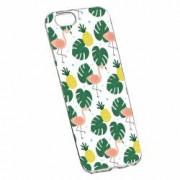 Husa Silicon Transparent Slim Tropical 93 Apple iPhone 7 Plus 8 Plus