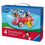 Puzzle Mickey si prietenii, 2x25 piese/2x36 piese, RAVENSBURGER