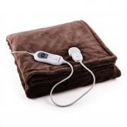 Klarstein Dr. Watson XXL електрическо одеяло 120W, приятна, 200x180cm, плюш, кафяв цвят (HZD2-Dr.Watson-XXLBR)