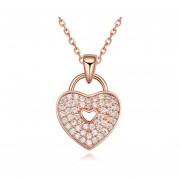 Dije Secret Of Paris (On Rose) Con Incrustaciones De Cristales, Ocean Heart N11-14-74-Oro Rosa