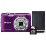 Nikon Aparat Coolpix A100 Fioletowy + Karta 4GB + Pokrowiec