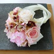 ELECTROPRIME® Wedding Bridal Bridesmaids Artificial Rose Flower Bouquet Hand Tied Flowers